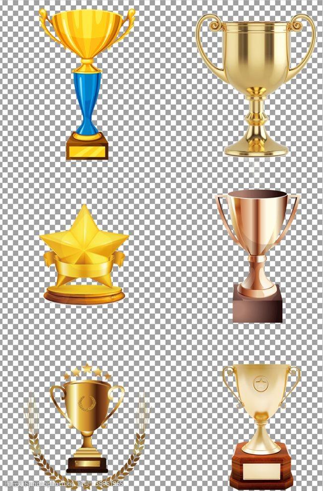 质感金色创意奖杯图片