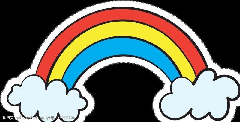 png卡通彩虹图片