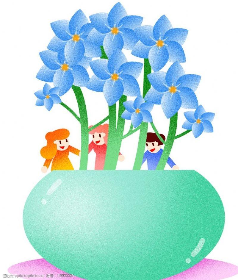 插画植物兰花插画图片