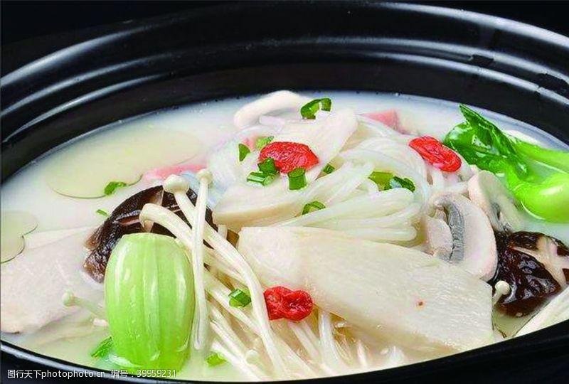 餐饮美食蘑菇米线图片