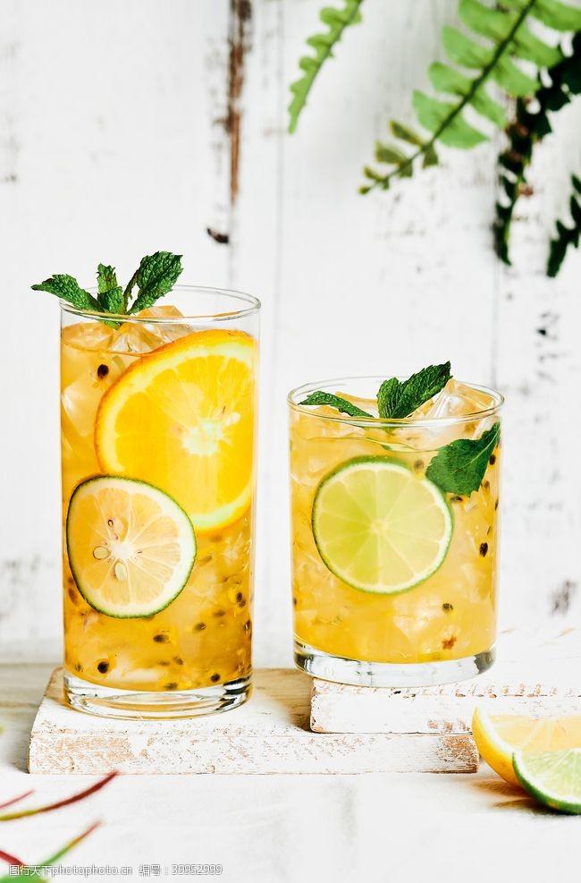 夏天柠檬饮料图片