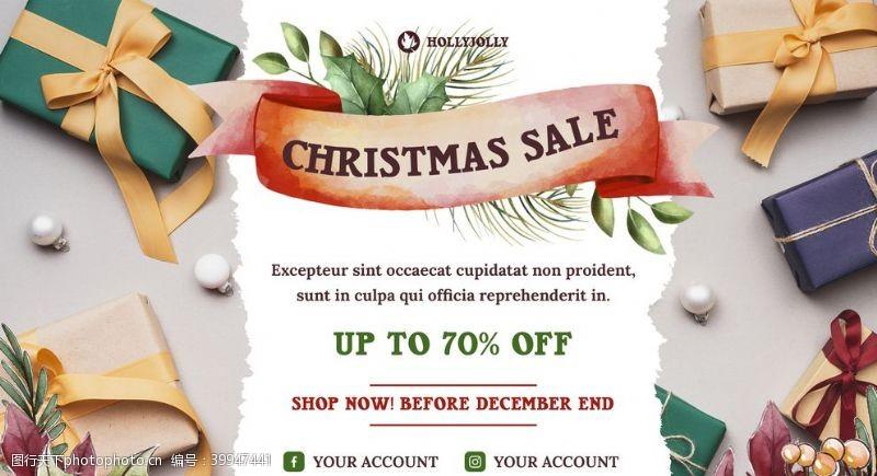 圣诞节促销宣传横幅图片