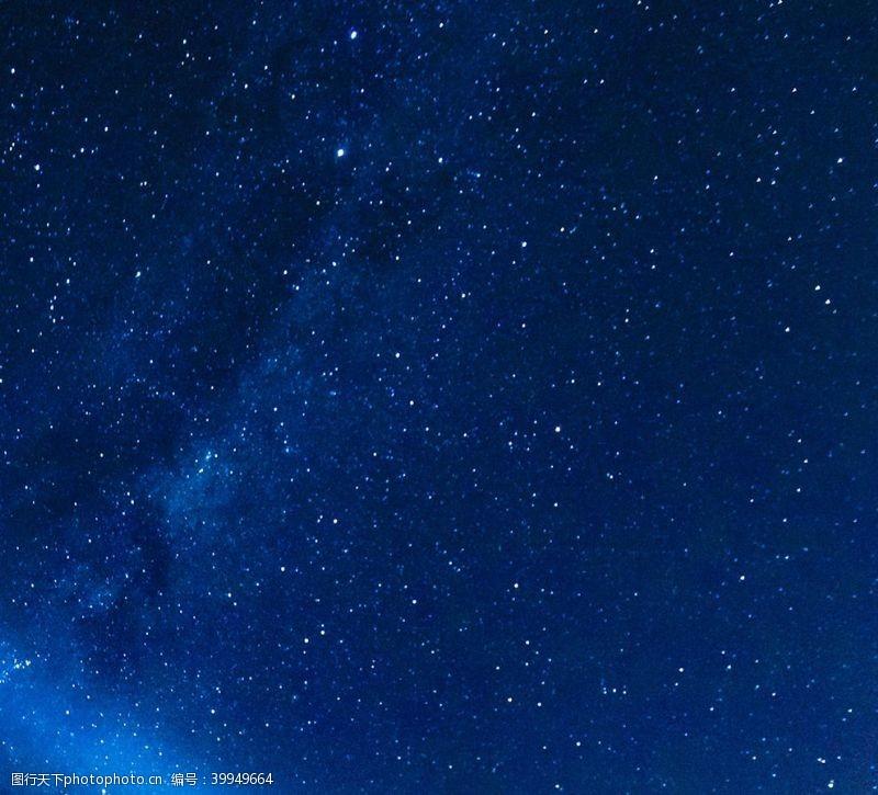 地球夜空星星星空蓝天天空图片