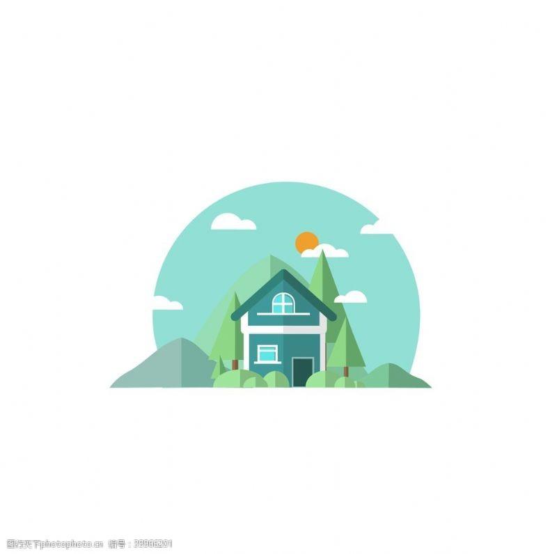 绿植别墅图片