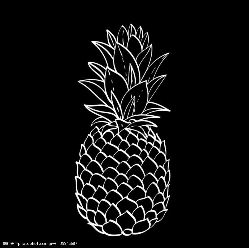 建筑花纹菠萝图片