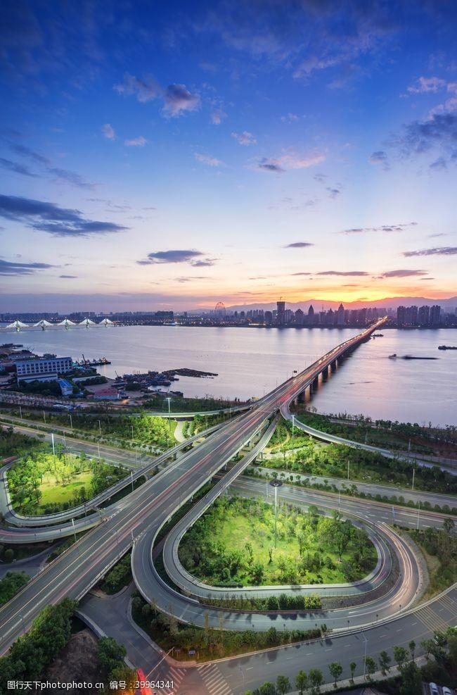 城市立交桥全景图片