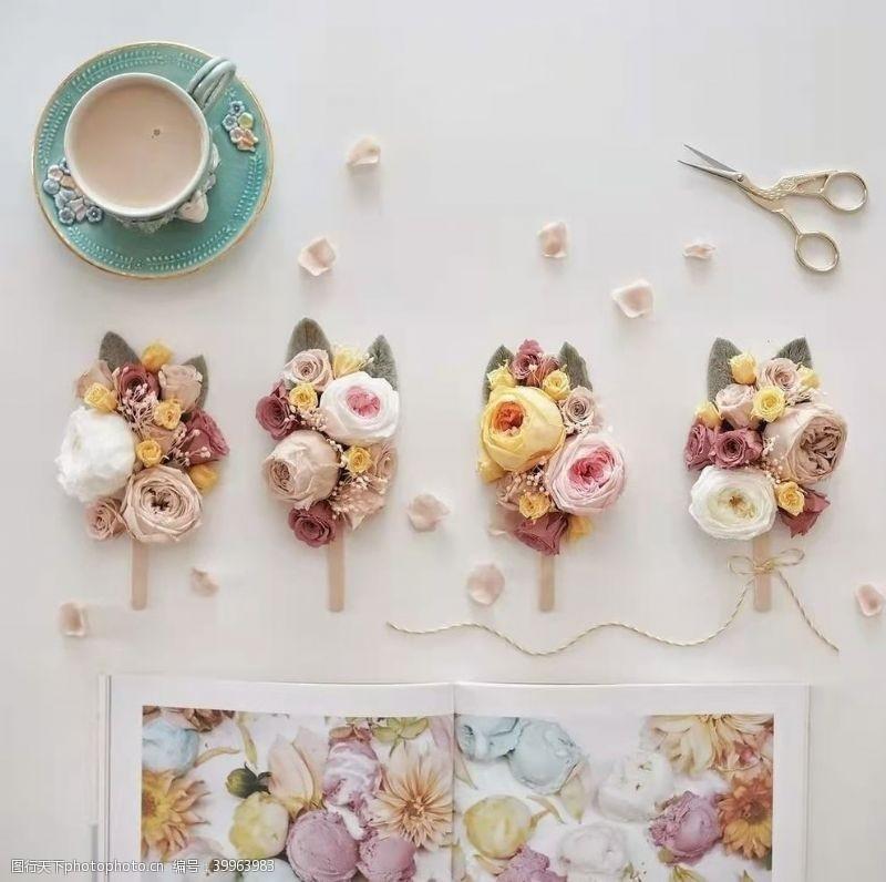 剪刀花卉艺术图片