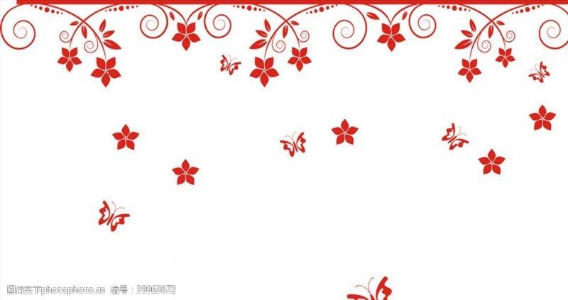 蝴蝶花矢量图图片