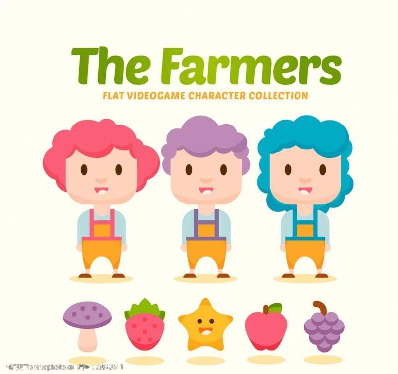苹果卡通农场游戏人物图片