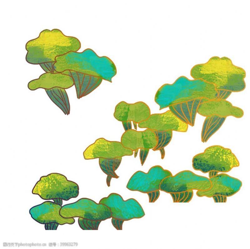 绿植卡通植物元素图片