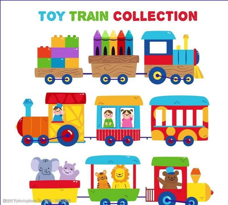 积木可爱玩具火车图片