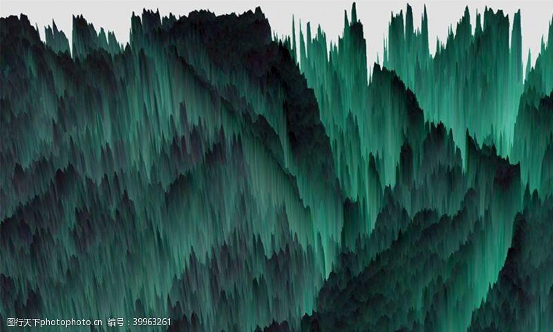 梦幻抽象水墨山峰图片