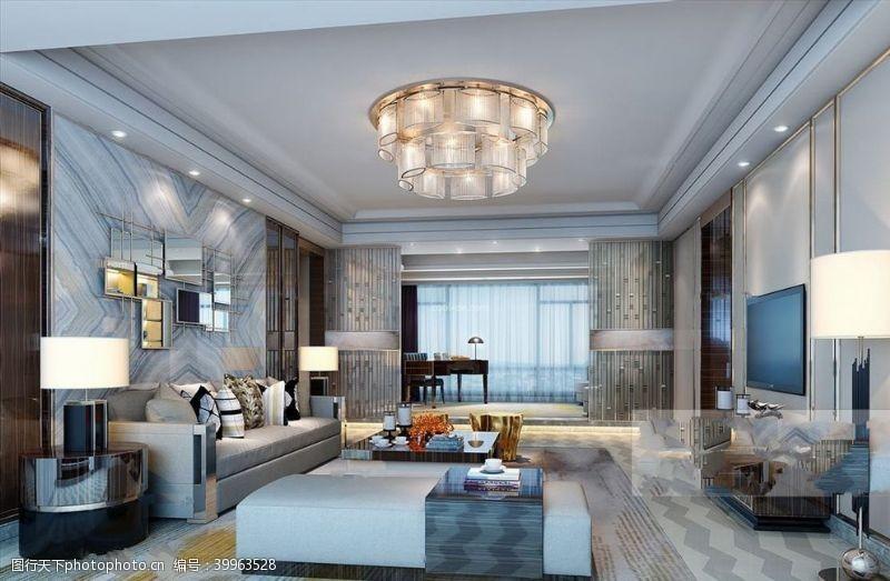 室内设计现代奢华客厅图片