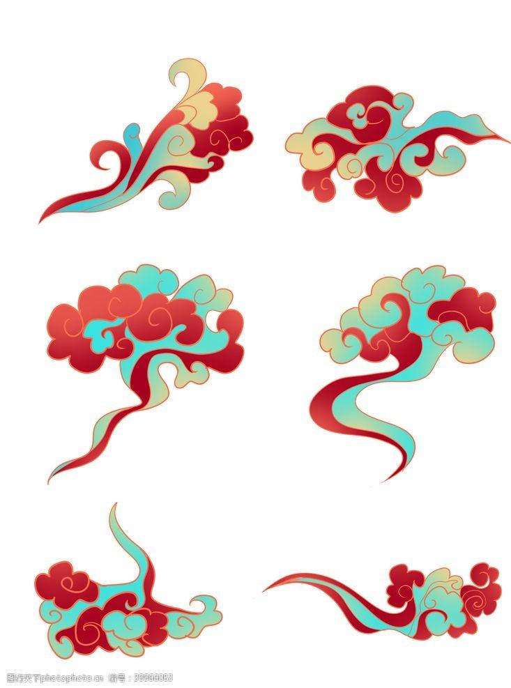中式祥云图片