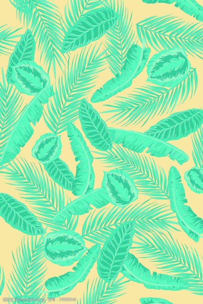 棕榈叶叶子印花图片