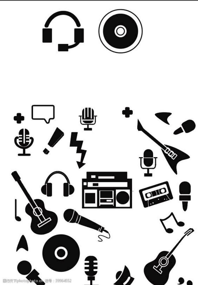 音乐素材LOGO小图标图片