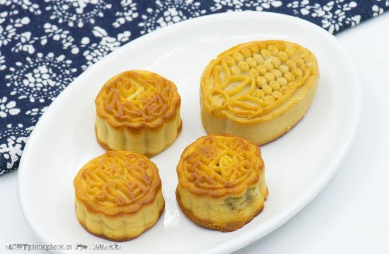 花布月饼图片
