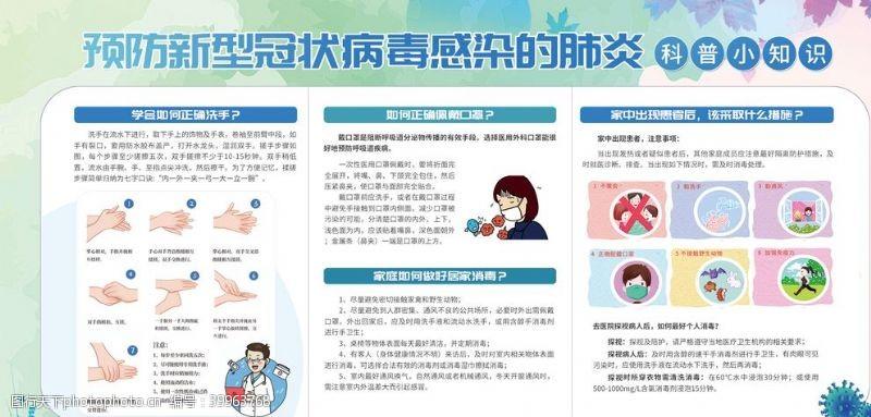 宣传栏预防新型冠状病毒感染的肺炎图片