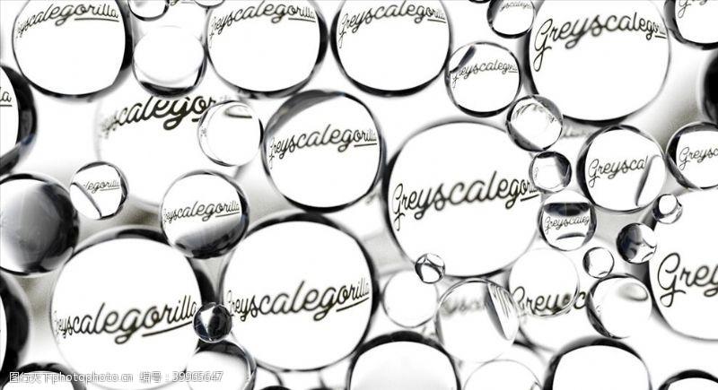 C4D模型水珠玻璃镜片图片