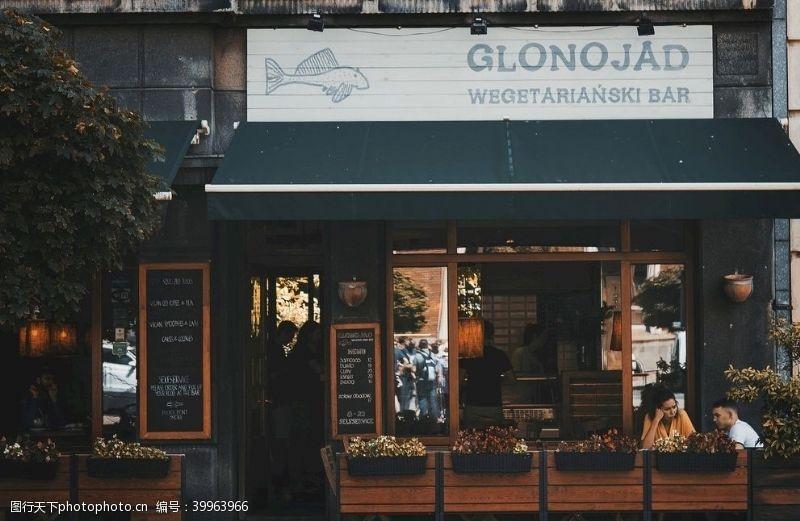 绿植餐厅门口图片