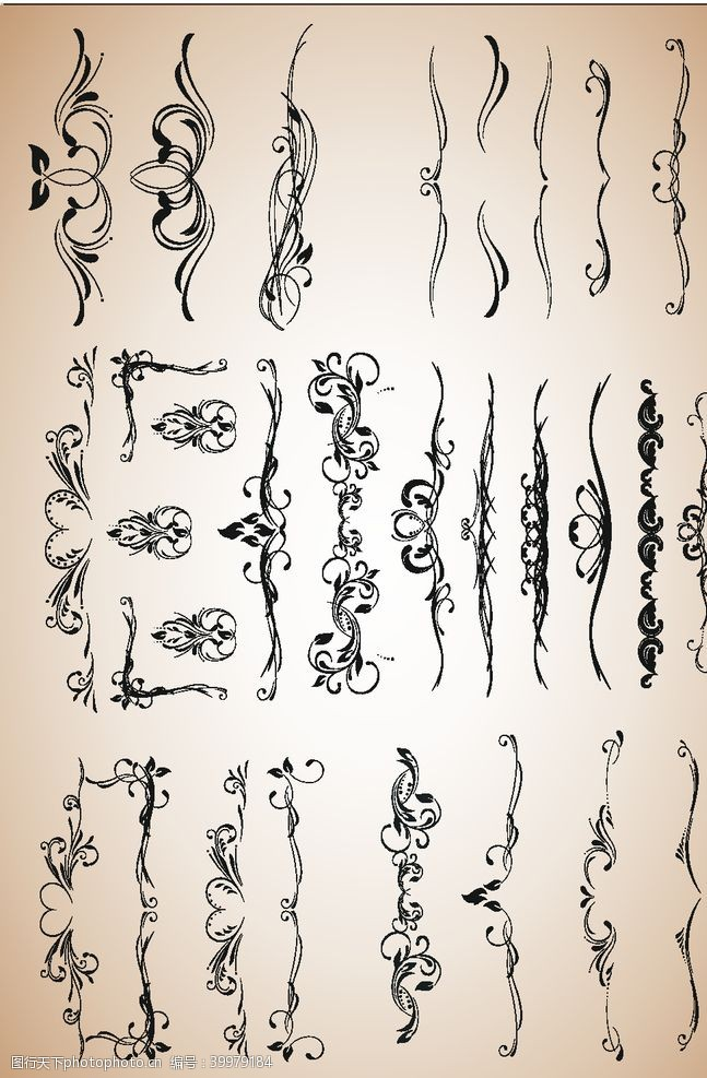 欧式花边花边素材图片