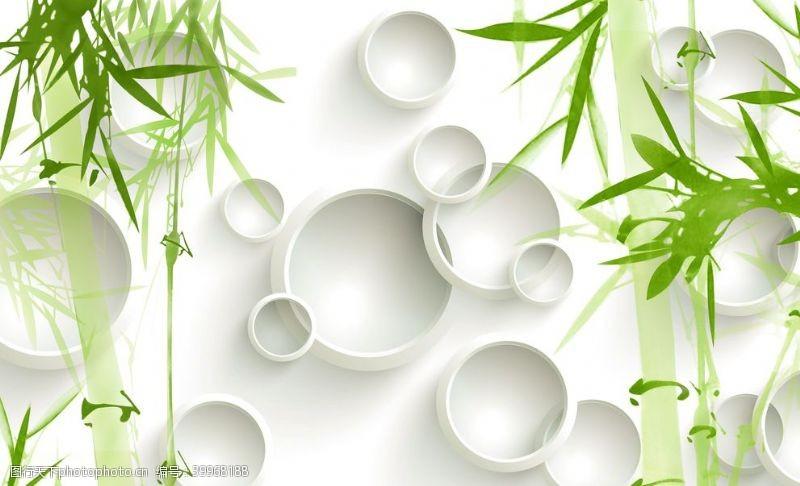 立体圈圈竹子背景图图片
