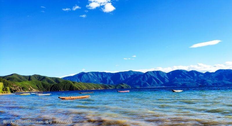 海蓝天泸湖湖情人岛图片