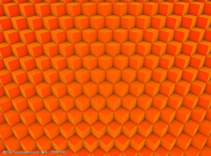 C4D模型立方体图案背景纹理图片