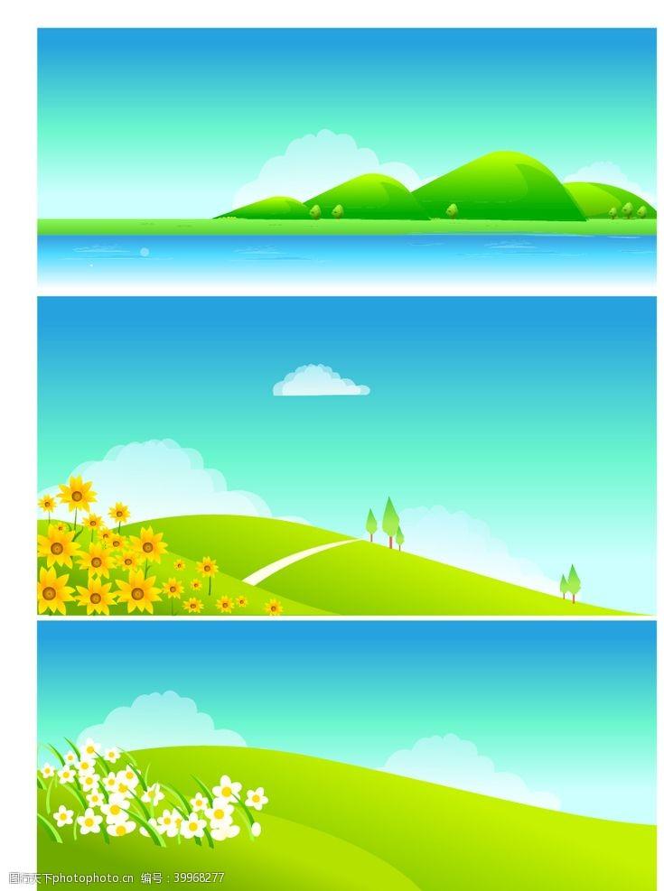 春天吊旗春天景色图片