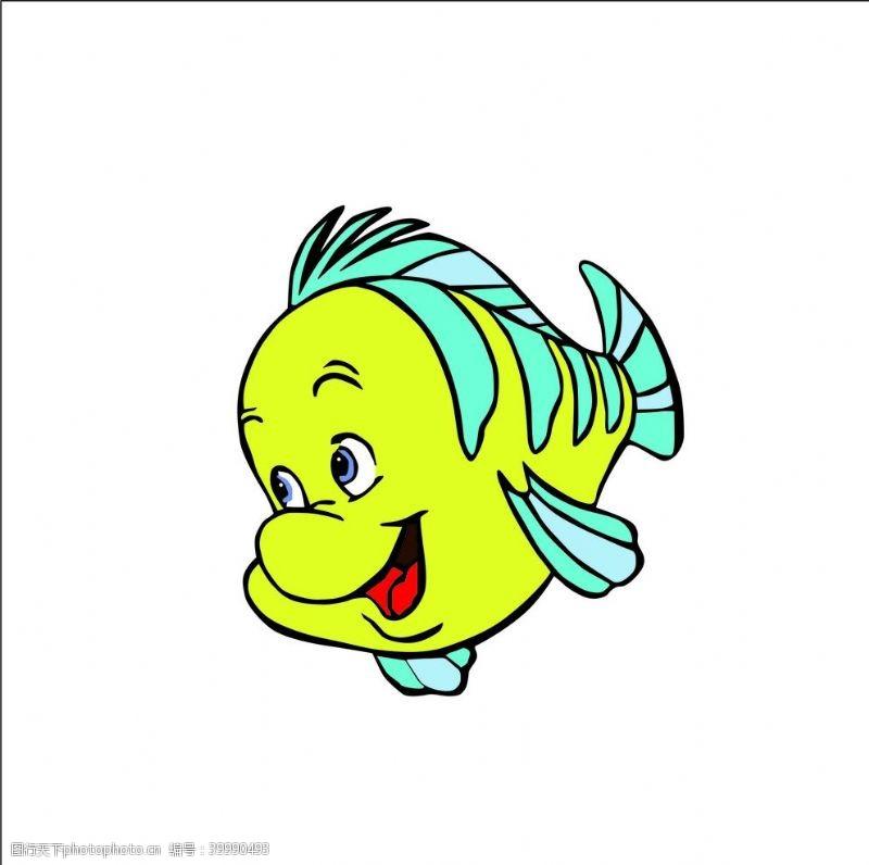俏皮卡通鱼图片