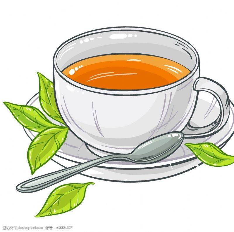 绿茶矢量插画图片