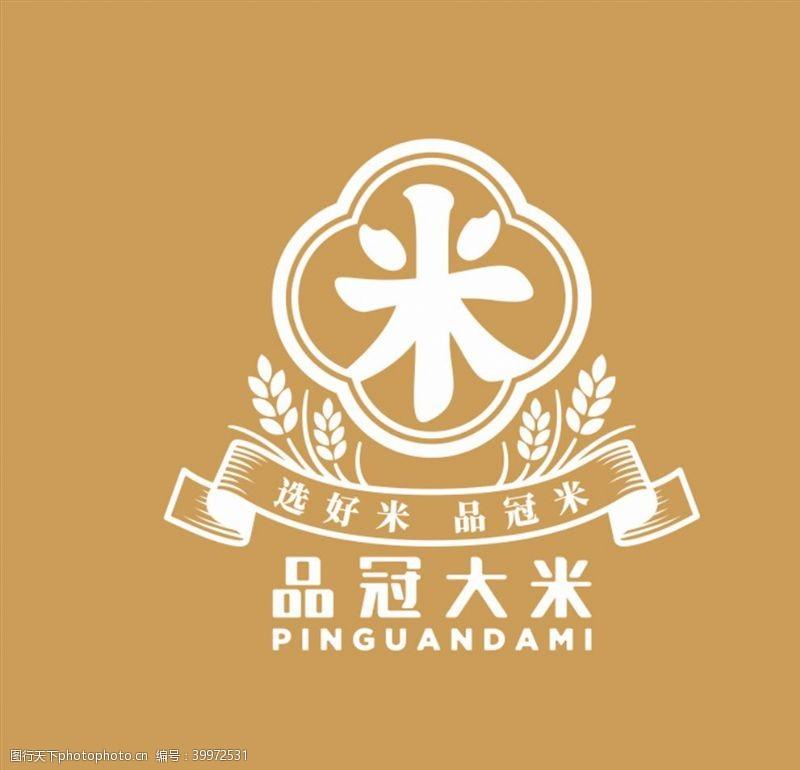 谷物品冠大米logo图片