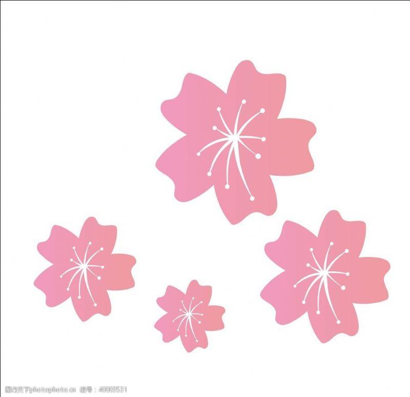 矢量花朵图片