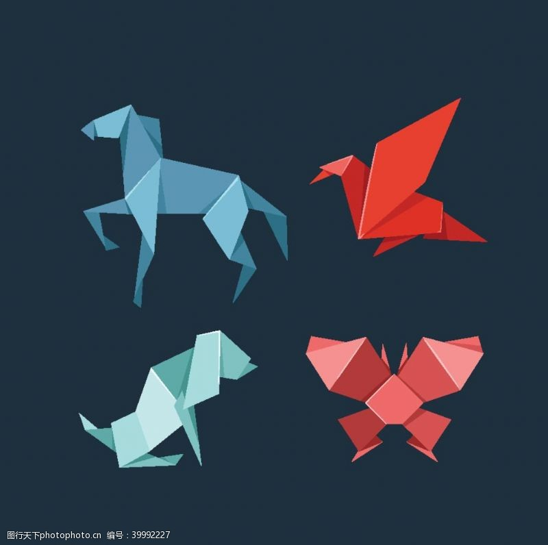 设计图库折纸动物风格图片