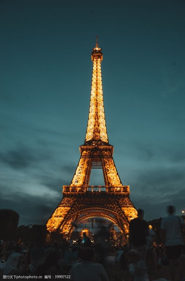 世界建筑埃菲尔铁塔图片