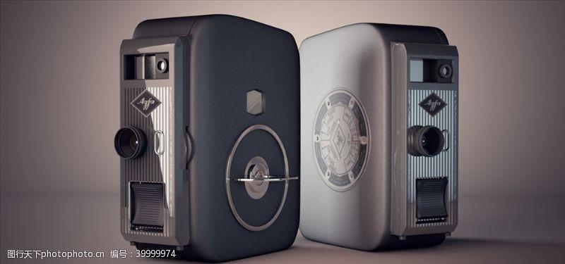 胶片C4D模型老式数码相机录像机图片