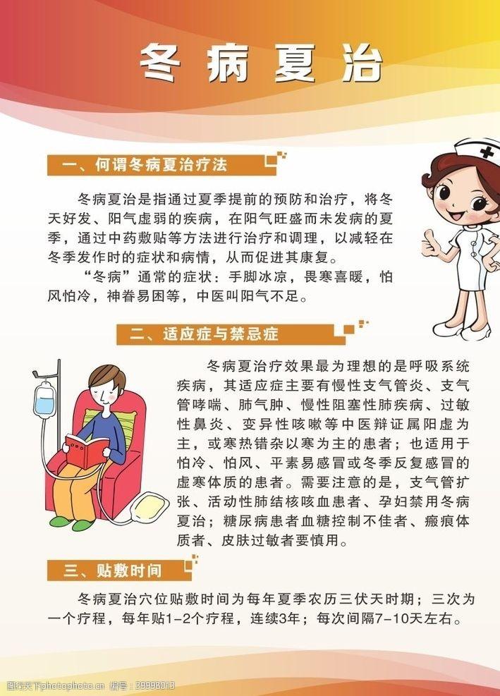 中医海报冬病夏治板报图片