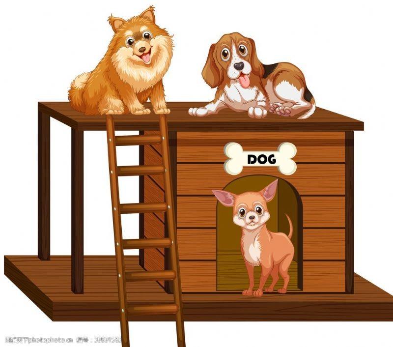 宠物小狗狗动物卡通图片