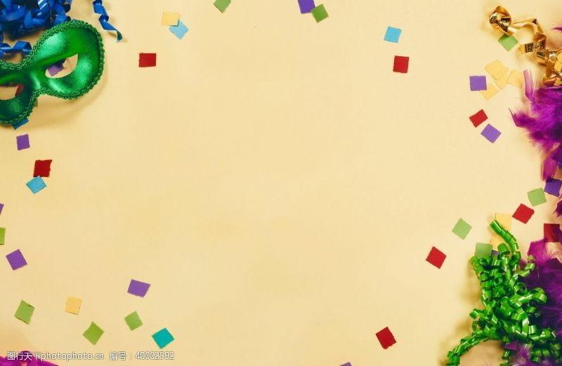 圣诞饰品狂欢节背景照片图片