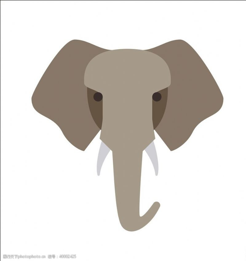 矢量插画矢量大象图片