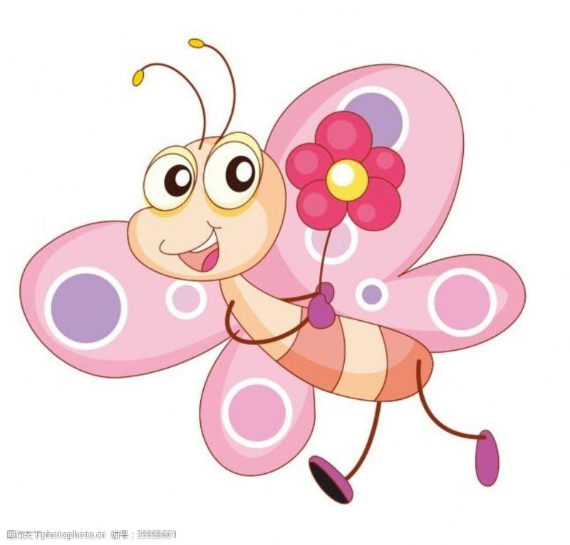 国际儿童节矢量卡通蝴蝶图片