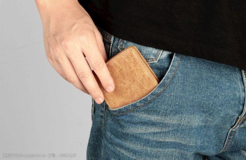 复古男士钱包图片