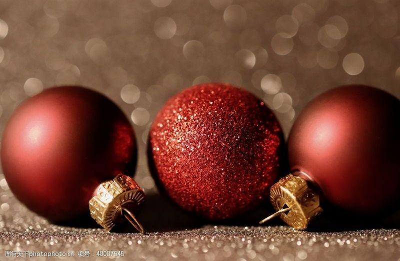 金色圣诞圣诞背景圣诞球背景素材图片