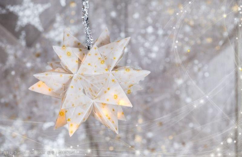 圣诞星星圣诞背景圣诞装饰背景素材图片