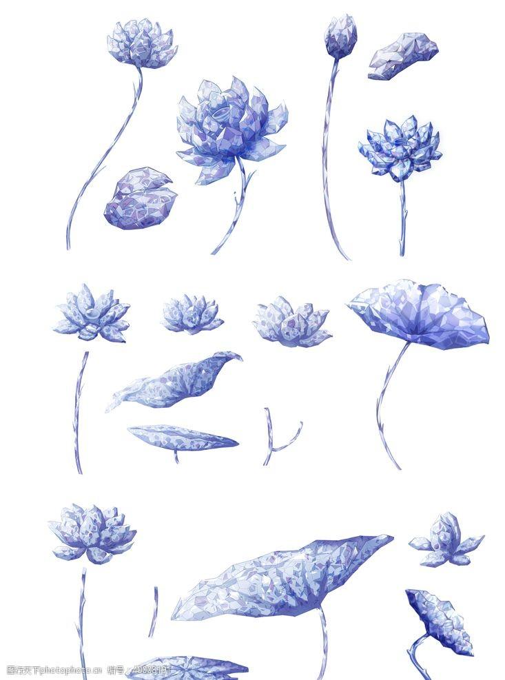 矢量插画手绘莲湖素材图片
