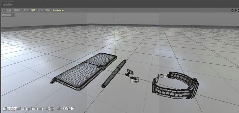 C4D模型笔记本手表钢笔手账图片