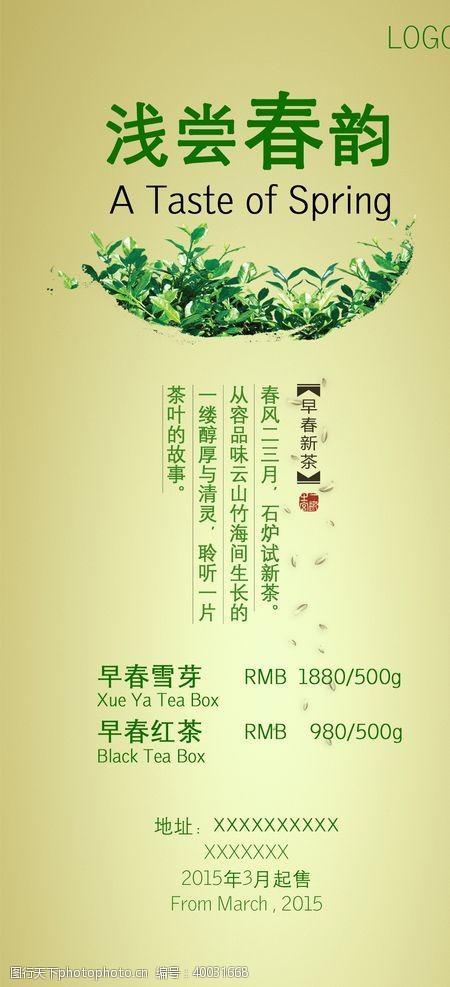 春茶上市春茶折页图片