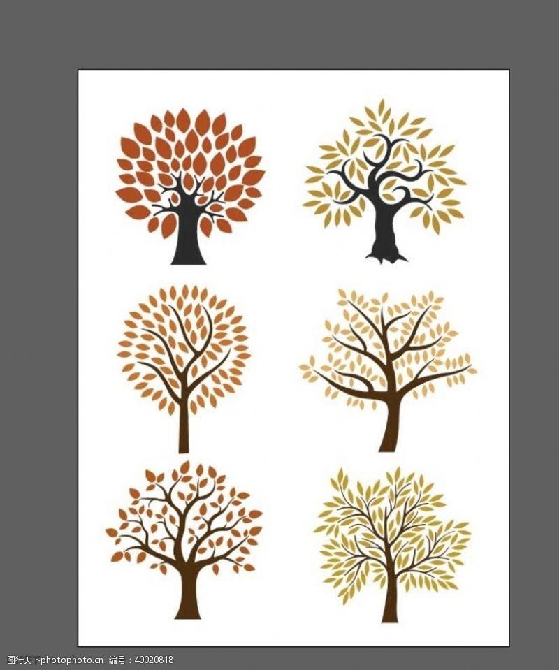 矢量大树卡通树图片