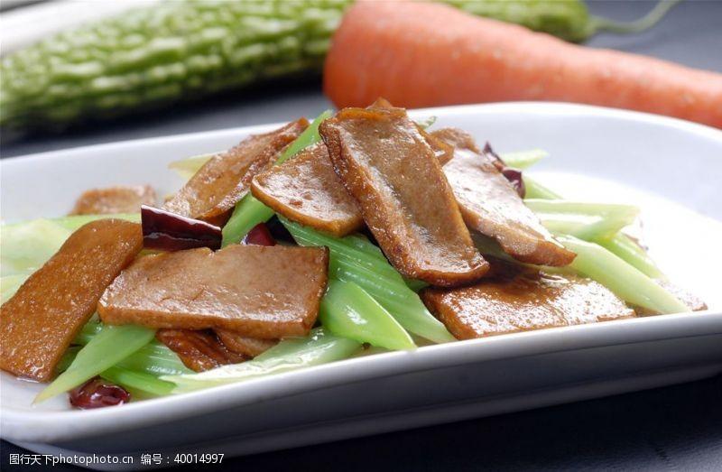 南香干炒芹菜图片