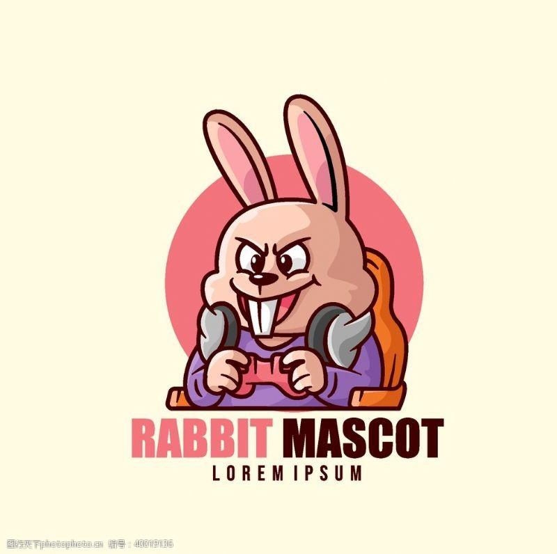 墨镜玩游戏的卡通形象标志图片